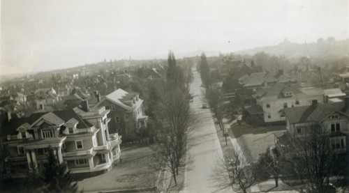 Capitol Hill from the Volunteer Park Water Tower, Seattle, 1930s