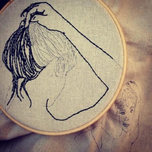 tsurubride:  #wip stitching hair  <3 <3 <3
