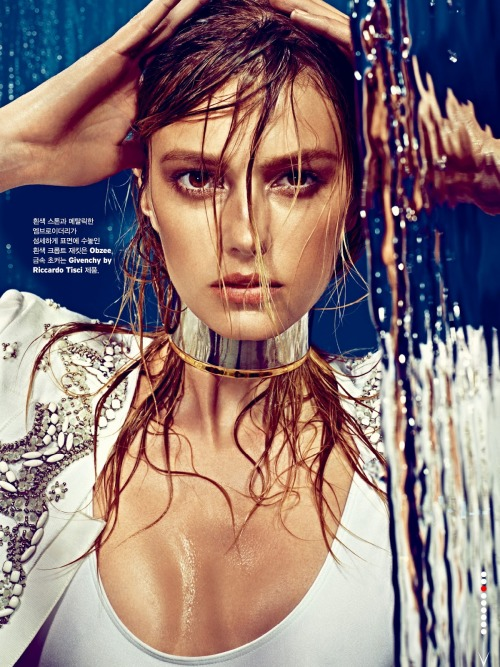 "madame-deficit:  ""Splash"". Sigrid Agren by Alexi Lubomirski. W Korea, May 2013."