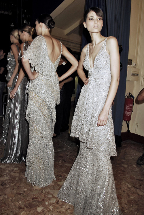 girlannachronism:  Elie Saab fall 2007 couture backstage