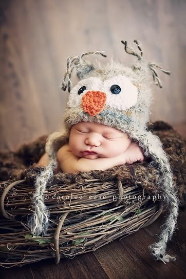 livin-on-lovee:  #baby #bird hat #adorable