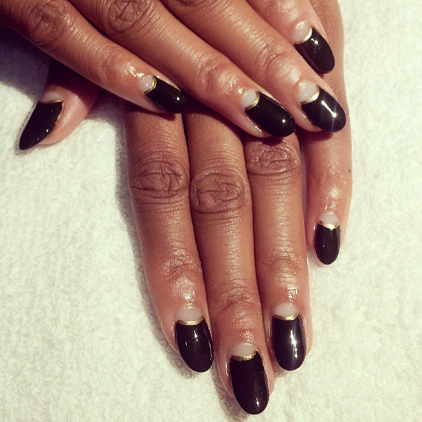 Nude half moons and dark green nails. Biosculpture #gelextensions. #nails #naillife #nailart #nailaddicts