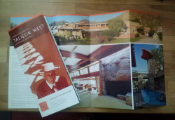Our new Summer 2013 tour brochures are hot off the press. Have you been to visit us at Taliesin West yet? Learn about tour options here.