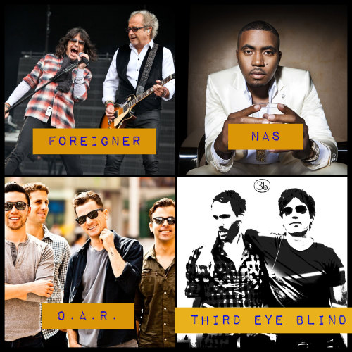 mets:  The Mets Concert Series is back! Foreigner (June 14), Nas (July 19), O.A.R. (August 2) and Third Eye Blind (August 23) will headline the Friday night post-game shows at Citi Field. Admission is included in the price of a game ticket.  Tickets to the Mets Concert go on sale tomorrow, Friday, March 1 at 10:00 a.m. at Mets.com and (718) 507-TIXX.