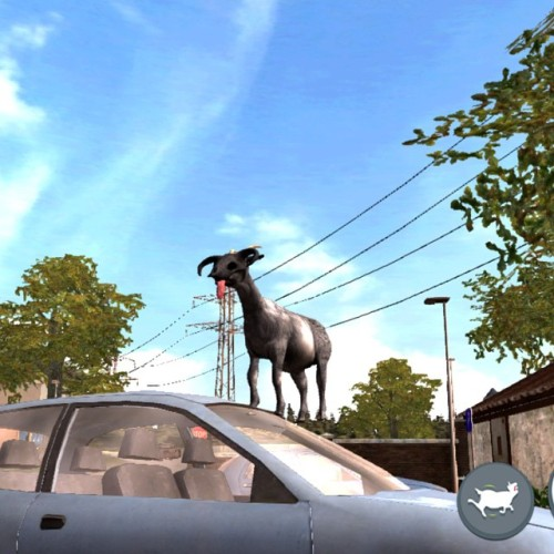 I got an iPhone. This all I've done with it. #goatsimulator