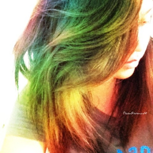 Decided to dye my hair 🌈