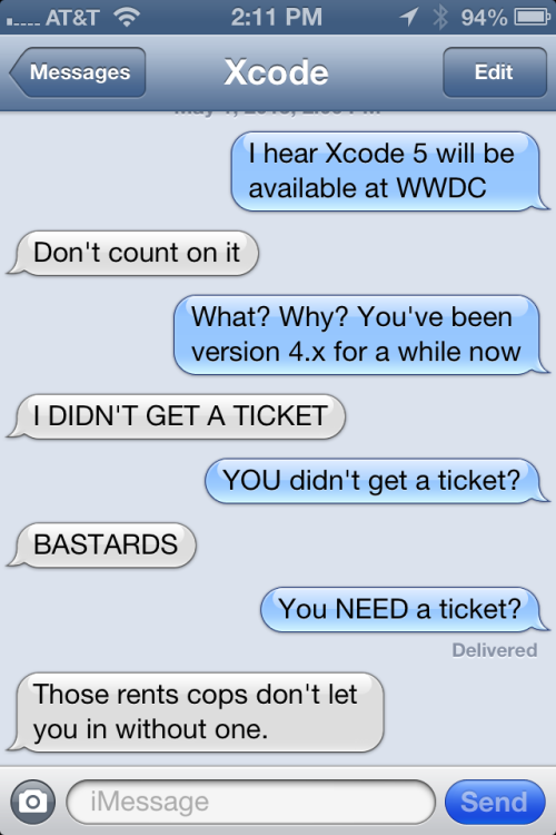 textfromxcode:  When WWDC ticketing goes really wrong.