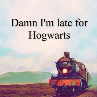 Late for Hogwarts - https://weheartit.com/entry/135009471