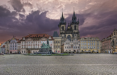 backpackingdreams:  Old Town Square - Prague - Morning Sunlight (by DiGitALGoLD)