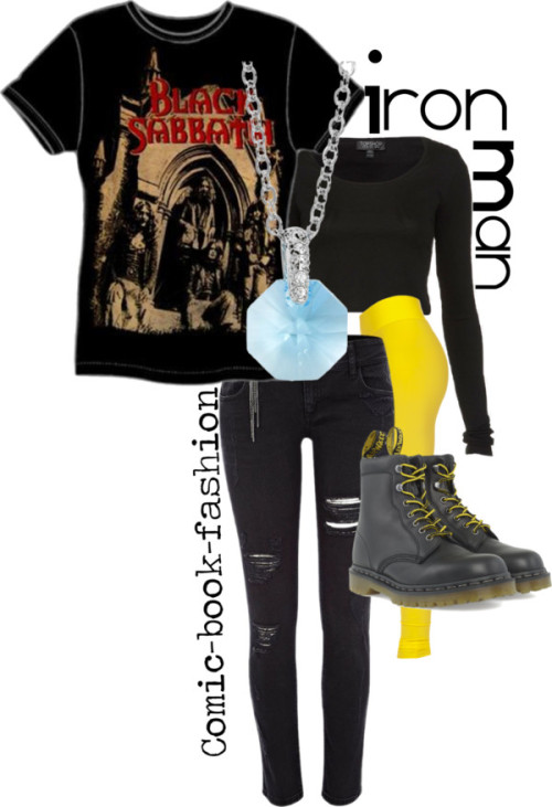 Tony Stark/Iron Man (Casual) by comic-book-fashion    Casual Tony Stark* for skycaptainsjournal  *I did Tony, not Iron Man (though the leggings under the jeans and the necklace are meant to reference the suit), I hope that's what you wanted!