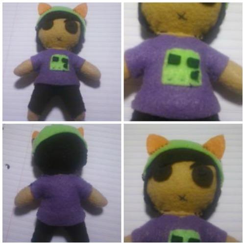 Remember when I said I was going to post this… Like a month ago? :D hahahaha. So, yeah, one of the first plushies I made after my Frank Iero one, and then I made my immortal one :3 this was done last year so yeah :3 thats why it looks weird.