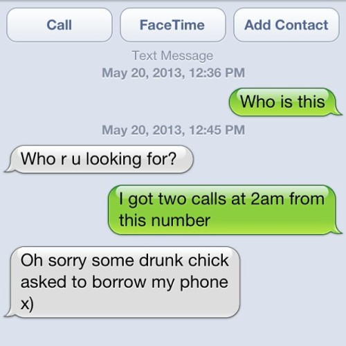 I wonder who the drunk chick was lol