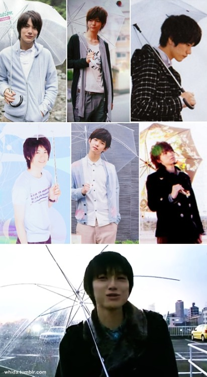 remember my previous post about umbrella? so, here they are! taishi, yabu, matsuken, yuto, chiba, inoo, and kanata xDD you know that in hsj, i like those 3 even i called them as yabunoojima. taishi, matsuken, chiba and kanata are my fav actors so far :) actually i have lots of japanese crushes.. but i only could found their pictures. hope will find shuhei, dori, taiga, fuu, genki and amu with umbrella in the future! haha, umbrella boy fetish xDD also oliver sykes and cillian murphy!