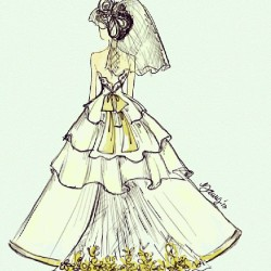Another sketch #weddingdress #sketch #design #fashion