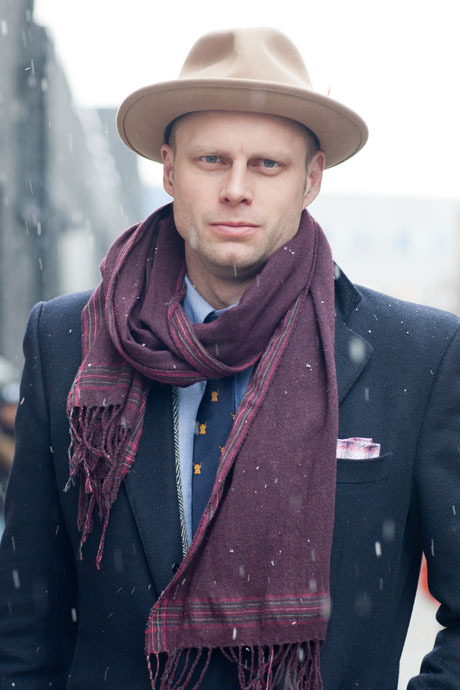 details:  Street Style: NYFW, Fall 2013  Tyler Thoreson of Gilt Man