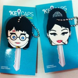 Harry e Audrey. Lançamento Keycaps na Gift&Fair 2013. \o/ (at Gift Fair | DAD)