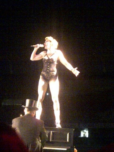 "Madonna singing ""Don't cry for me, Argentina"". 12/15/2012, Buenos Aires."