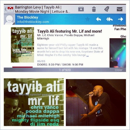 I'm opening for @tayyibali & @therealmrlif at @TheBlockley on 6/5 alongside @michaelmilehigh & @pooda_dappa! Tix are $13!!! COP UP!!! And I make deliveries. So hmu!!