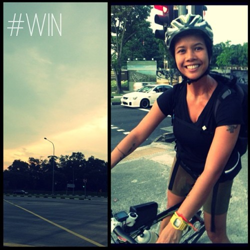 Nine more days to a new healthy habit. The girl loves her bike. #projectpluplu #singapore #love  (at Bedok South Road)