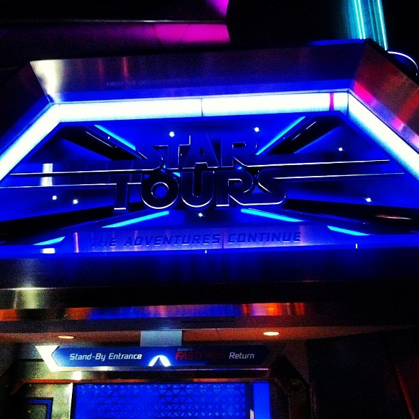 Star Tours! #startours #starwars #disney #disneyland #disneycalifornia #space #tomorrowland (at Star Tours - The Adventures Continue)