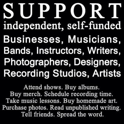 superfist:  Truth.  Loooooooooove supporting my fellow artists. - J