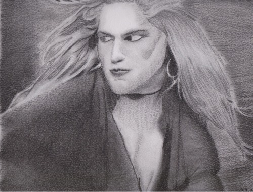 andrew wood, done in charcoal