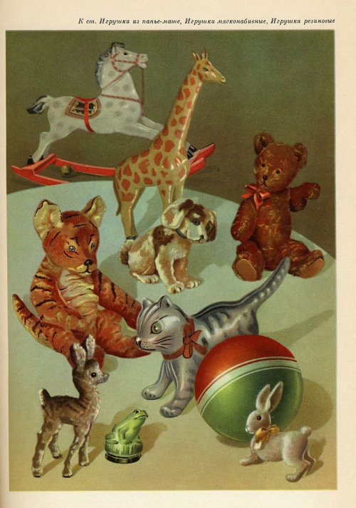 Toys from the Soviet Trade Dictionary via @retronaut