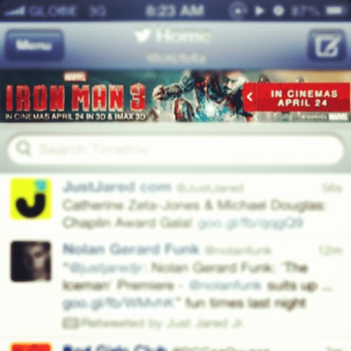 Yes, Echofon. No need to rub it in. #IronMan3