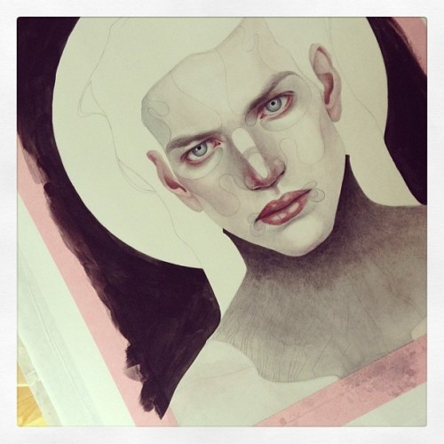 Now entering vampire stage… #wip #painting