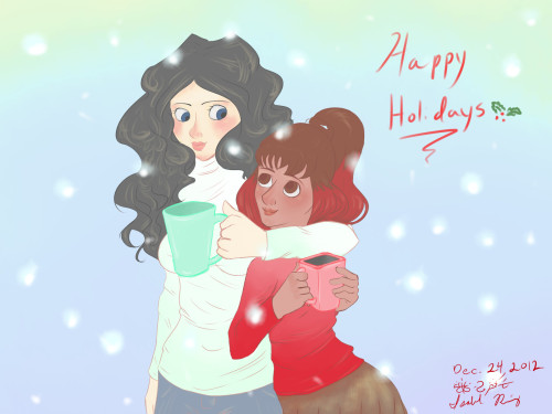 "Karis comic | ""Happy Holidays!"" a Heaven Sent Gaming comic by: Artist: Isabel ( http://cinnamonbell.tumblr.com/ )"