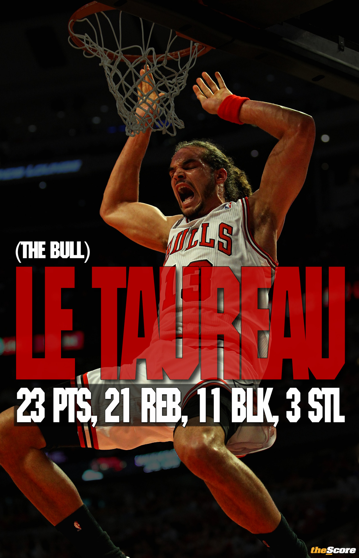 Pic: Joakim Noah records a HUGE triple double.
