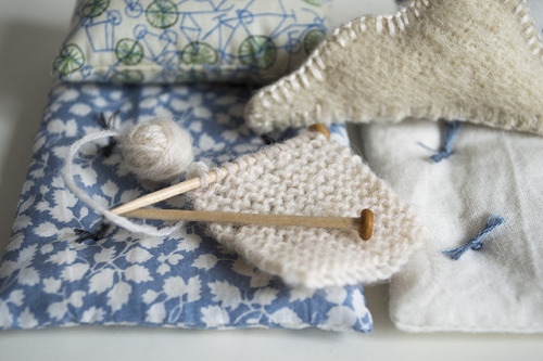 Knitting in miniature