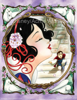 'One Song', my first official Princess giclee, is now available from Acme Archives! It's also available on fine art paper as well as canvas. This is the first in a series, plenty more to come :)