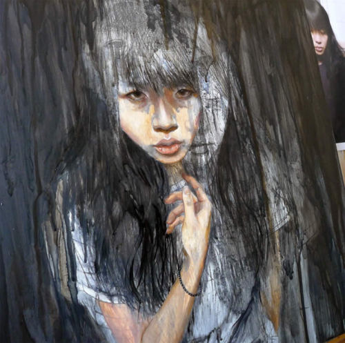 Often painting people in movement, Christine Wu's work expresses vulnerability and personal discovery.