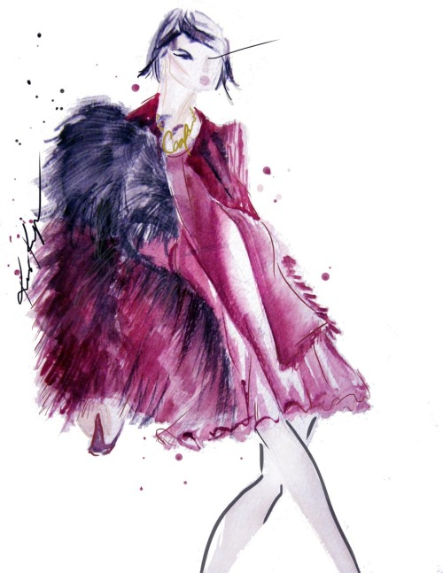 this Lanvin illustration was one of our favorite bold looks from the runway show… which one do you love?