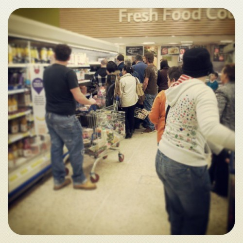 Bargain supermarket meat scrum #sale #clearance