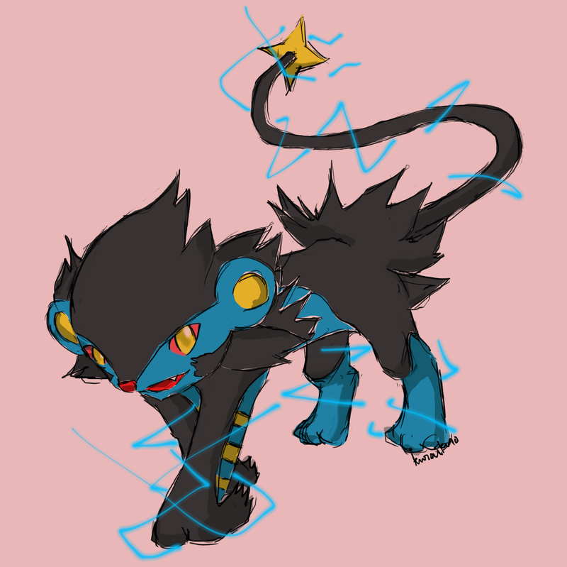 Luxray Say Hi by ~kuraikuro
