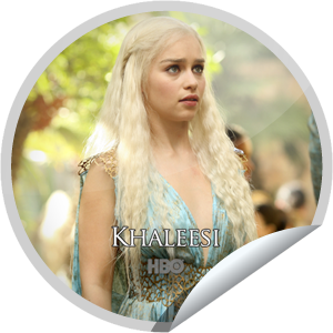 I just unlocked the Game of Thrones: Khaleesi sticker on GetGlue                      9655 others have also unlocked the Game of Thrones: Khaleesi sticker on GetGlue.com                  You have never been nothing, you are the blood of the dragon and a superfan. That's 15 check-ins to Game of Thrones.  Share this one proudly. It's from our friends at HBO.