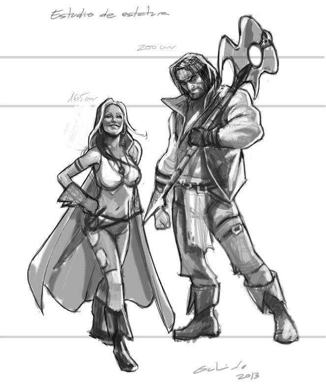"A quick study about the Rogues! characters for the next arc in the series… ""The Cleansing""! By Diego P. Galindo."