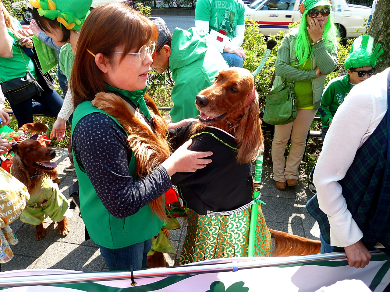 St Patrick's Day Parade in Omotesando