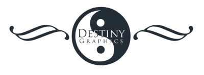 A Logo I created for Destiny Graphics.