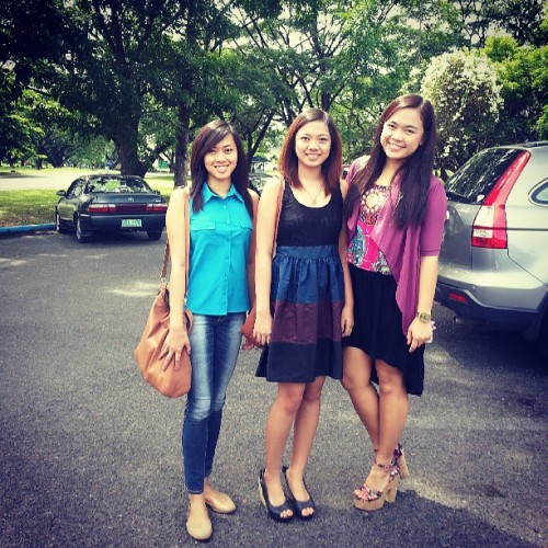 Sunday mass.  @paulinemayo @frances0127 #sundays #fambam #fambam #sissies