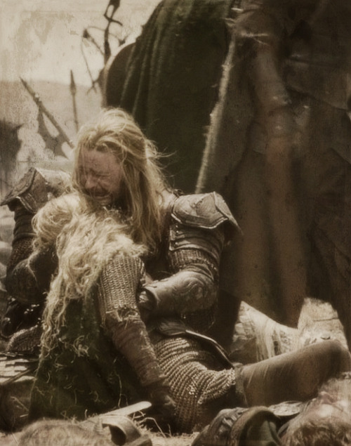 'Éowyn, Éowyn!' he cried at last. 'Éowyn, how come you here? What madness or devilry is this? Death, death, death! Death take us all!'