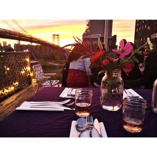 Sunday super. Kudos, @kylescollin. 🌷🌿🌰  #nbksundaysupper #sunsetdinner #williamsburg #brooklyn #supper #sundaysupper