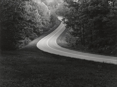 Blue Ridge Way, North Carolina and Virginia, Paul Caponigro, 1965. Gelatin silver print, printed later, signed in pencil on the mount and the overmat.