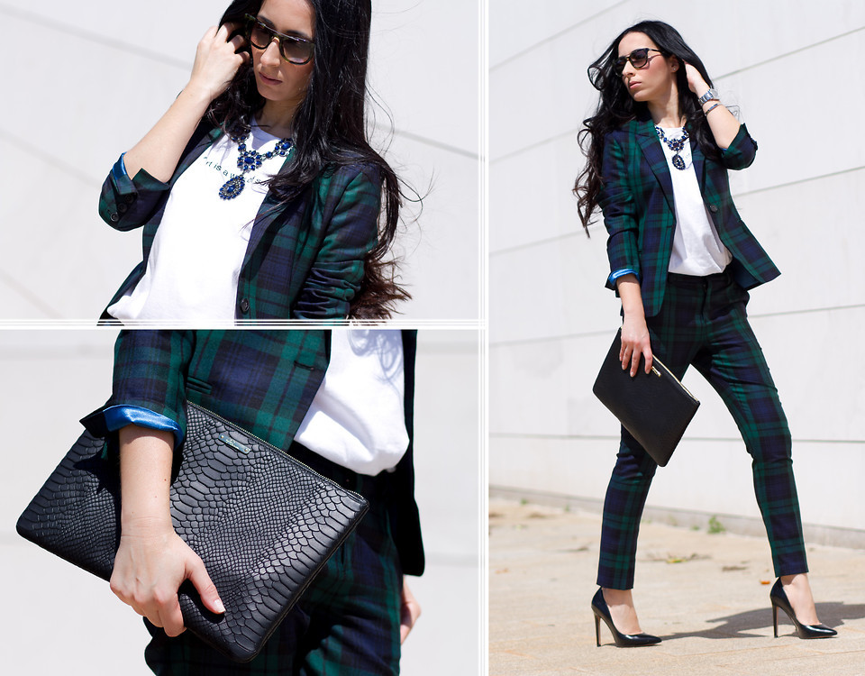 lookbookdotnu:  GREEN and PURPLE TARTAN SUIT (by WOWS .)
