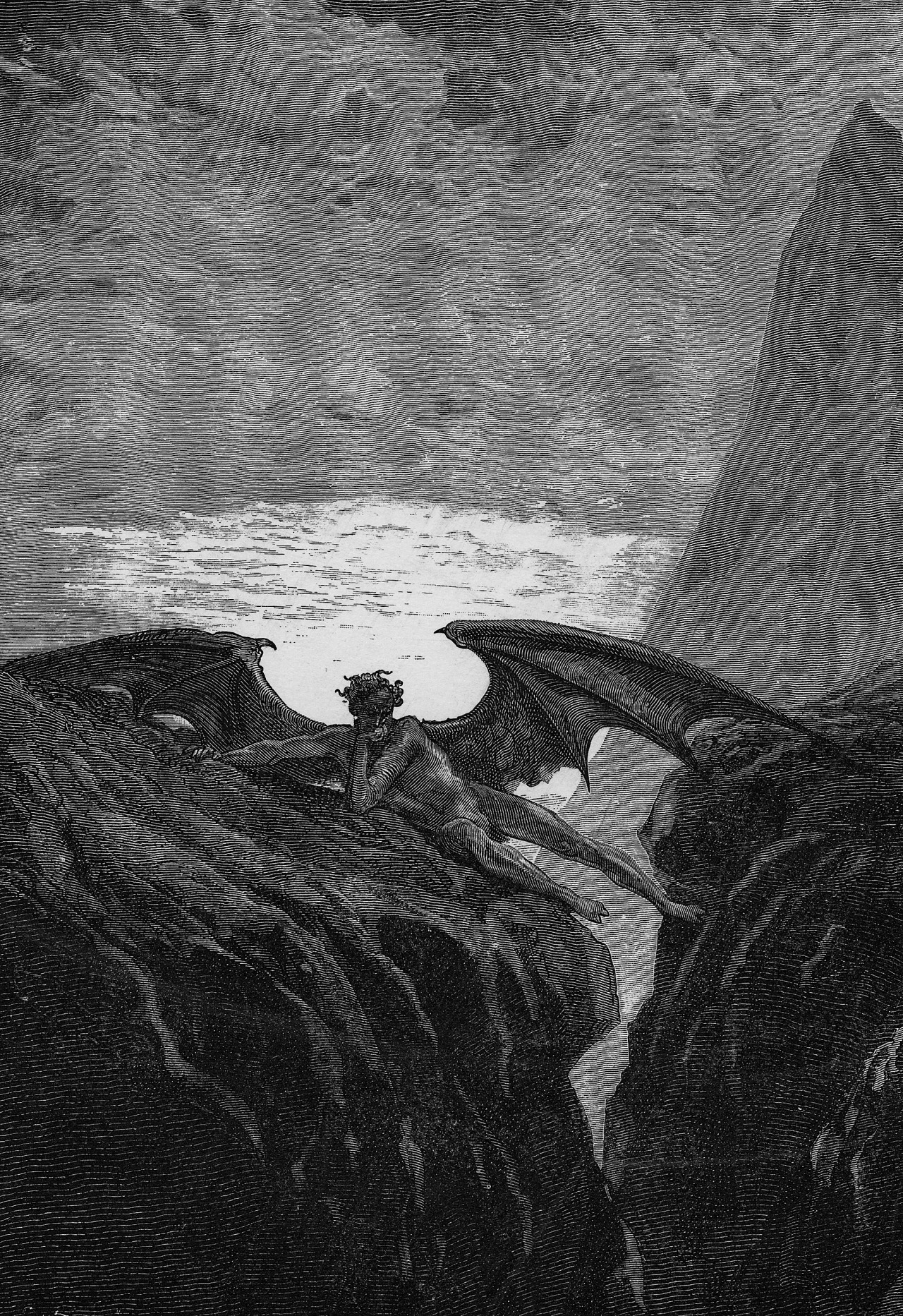 the image of hell and satan in miltons paradise lost Satan in paradise lost:  bottomless pit of hell heaven is lost to satan and his companion  the first image the black an white one of satan email.