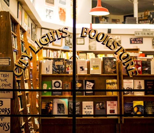 I love you City Lights Bookstore.