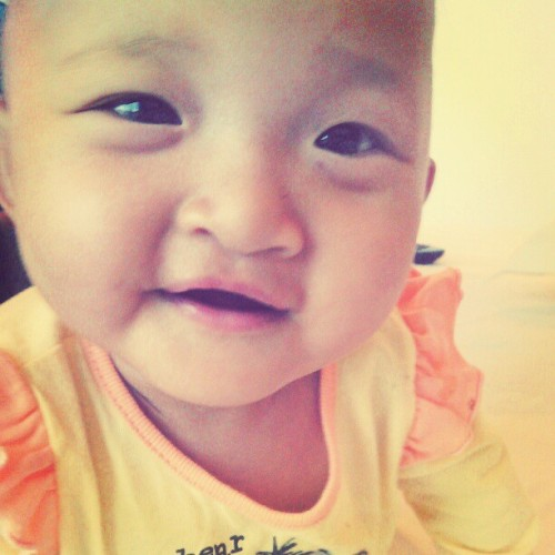 Put a smile on my face :) #AisyahSofea #My2ndNiece