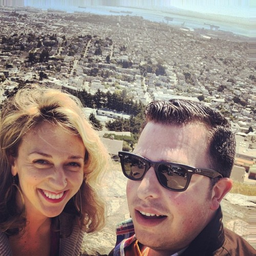 New view, old friend. Top of Twin Peaks with @liz_michaud was a blast! (at Twin Peaks Summit)